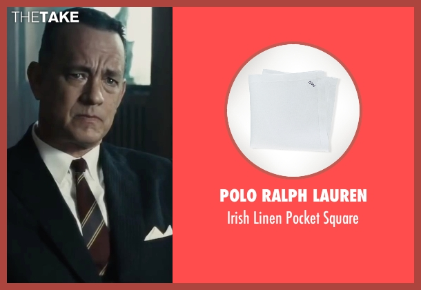 Polo Ralph Lauren white square from Bridge of Spies seen with Tom Hanks (James Donovan)
