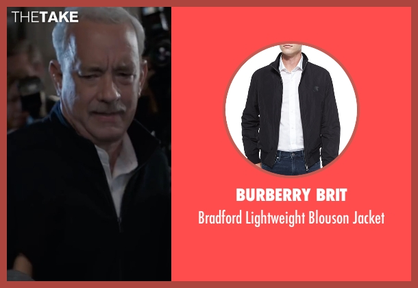 Burberry Brit black jacket from Sully seen with Tom Hanks (Chesley 'Sully' Sullenberger)