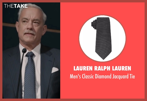 Lauren Ralph Lauren  black tie from Sully seen with Tom Hanks (Chesley 'Sully' Sullenberger)