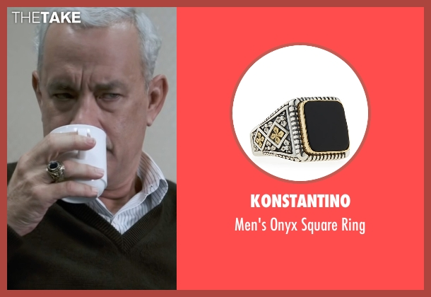 Konstantino gold ring from Sully seen with Tom Hanks (Chesley 'Sully' Sullenberger)
