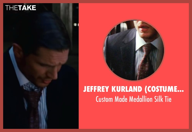 Jeffrey Kurland (Costume Designer) tie from Inception seen with Tom Hardy (Eames)