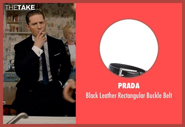 Tom Hardy Prada Black Leather Rectangular Buckle Belt from Legend ...