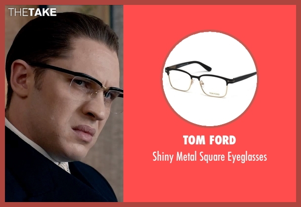 Tom Ford black eyeglasses from Legend seen with Tom Hardy (Ronald Kray)