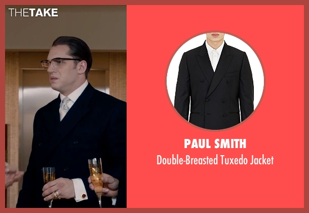 Paul Smith black jacket from Legend seen with Tom Hardy (Ronald Kray)