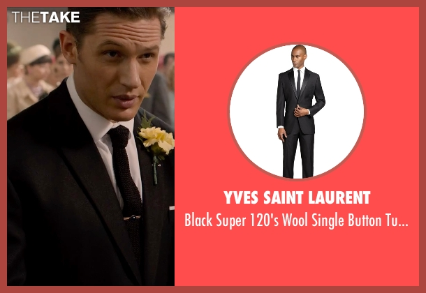 Yves Saint Laurent black pants from Legend seen with Tom Hardy (Reginald Kray)