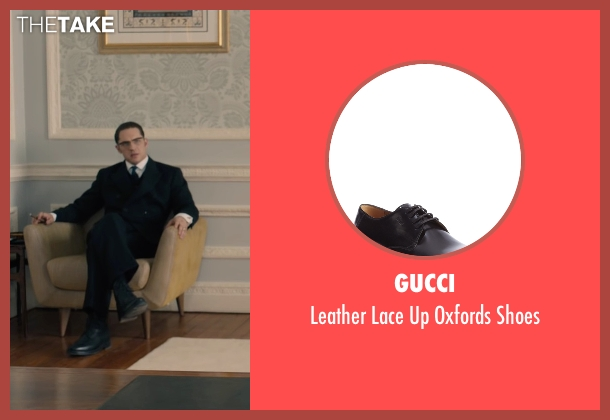 Gucci black shoes from Legend seen with Tom Hardy (Ronald Kray)