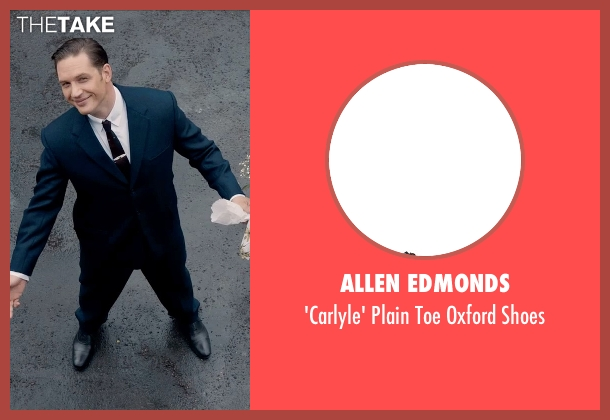 Allen Edmonds black shoes from Legend seen with Tom Hardy (Reginald Kray)