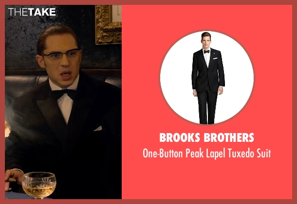 Brooks Brothers black suit from Legend seen with Tom Hardy (Ronald Kray)