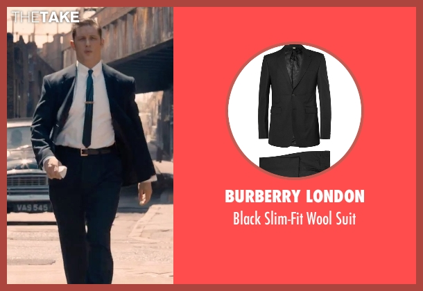 Burberry London black suit from Legend seen with Tom Hardy (Reginald Kray)
