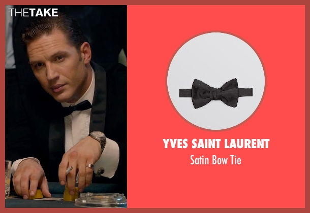 Yves Saint Laurent black tie from Legend seen with Tom Hardy (Reginald Kray)
