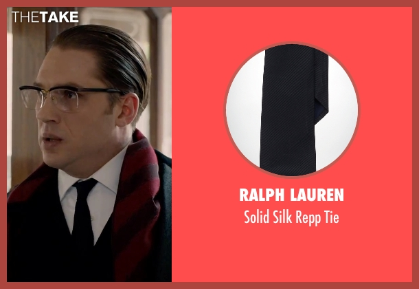 Ralph Lauren black tie from Legend seen with Tom Hardy (Ronald Kray)