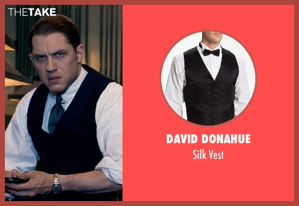 David Donahue black vest from Legend seen with Tom Hardy (Ronald Kray)
