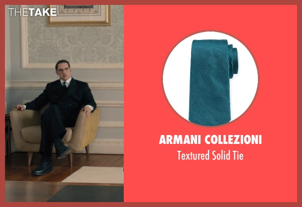 Armani Collezioni blue tie from Legend seen with Tom Hardy (Ronald Kray)