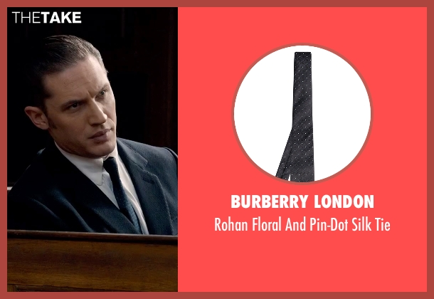 Burberry London blue tie from Legend seen with Tom Hardy (Reginald Kray)