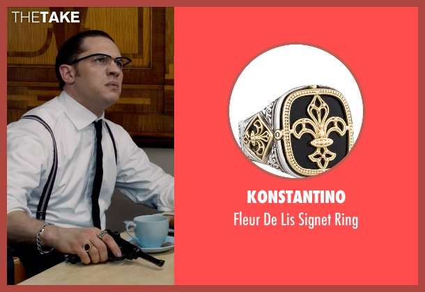 Konstantino gold ring from Legend seen with Tom Hardy (Ronald Kray)