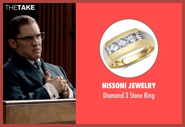 Nissoni Jewelry gold ring from Legend seen with Tom Hardy (Ronald Kray)