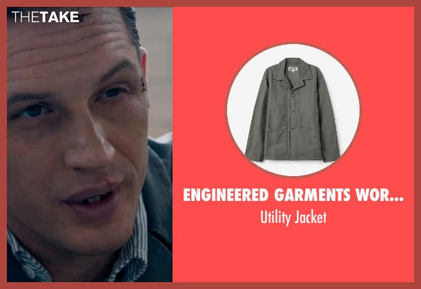 Engineered Garments Workaday gray jacket from Legend seen with Tom Hardy (Reginald Kray)