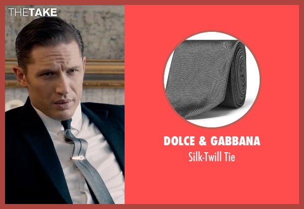 Dolce & Gabbana gray tie from Legend seen with Tom Hardy (Reginald Kray)