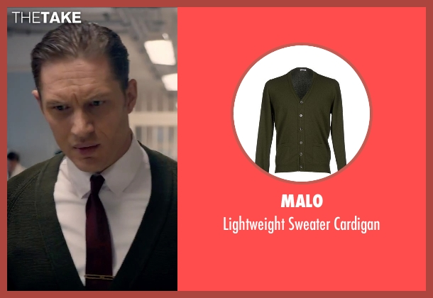Malo green cardigan from Legend seen with Tom Hardy (Reginald Kray)