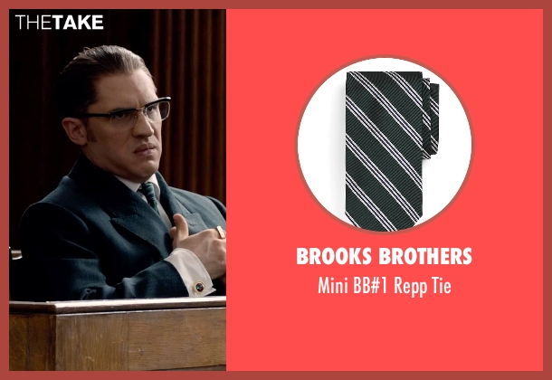 Brooks Brothers green tie from Legend seen with Tom Hardy (Ronald Kray)