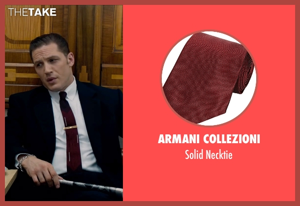 Armani Collezioni red necktie from Legend seen with Tom Hardy (Reginald Kray)