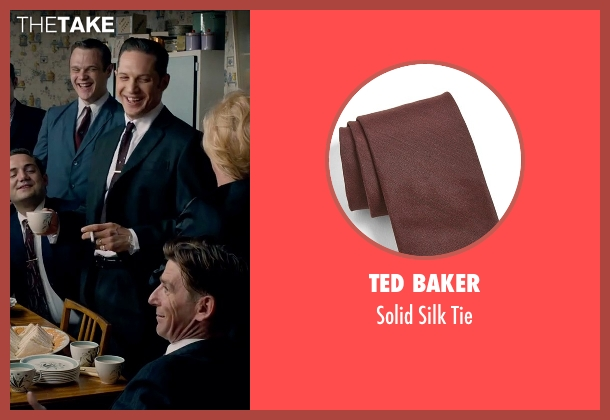 Ted Baker red tie from Legend seen with Tom Hardy (Reginald Kray)