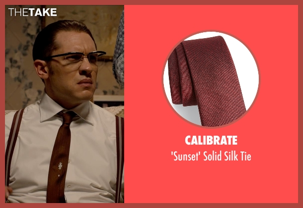Calibrate red tie from Legend seen with Tom Hardy (Ronald Kray)