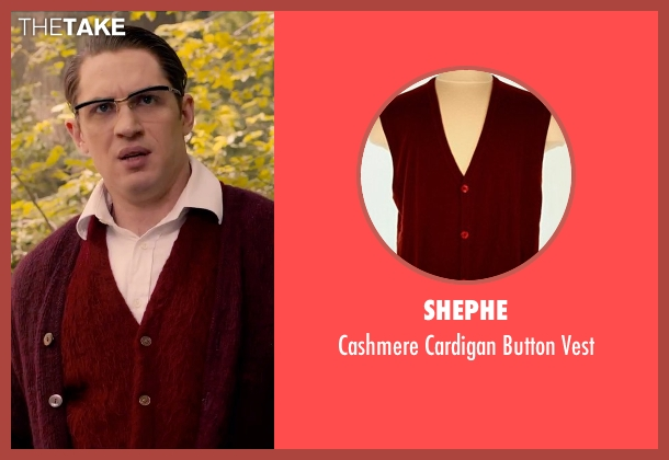 Shephe red vest from Legend seen with Tom Hardy (Ronald Kray)