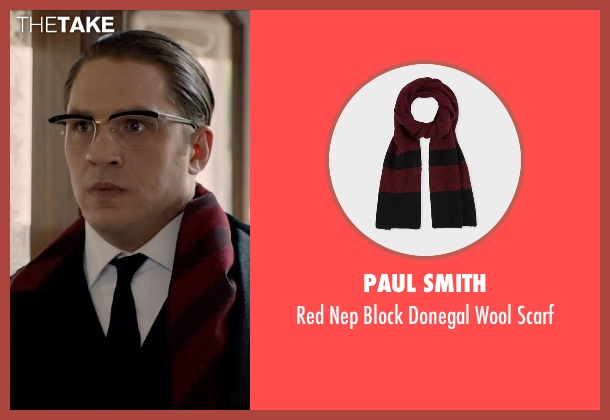 Paul Smith scarf from Legend seen with Tom Hardy (Ronald Kray)