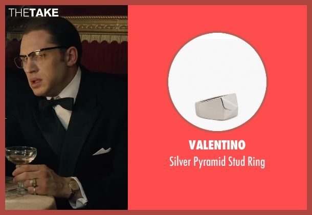 Valentino silver ring from Legend seen with Tom Hardy (Ronald Kray)