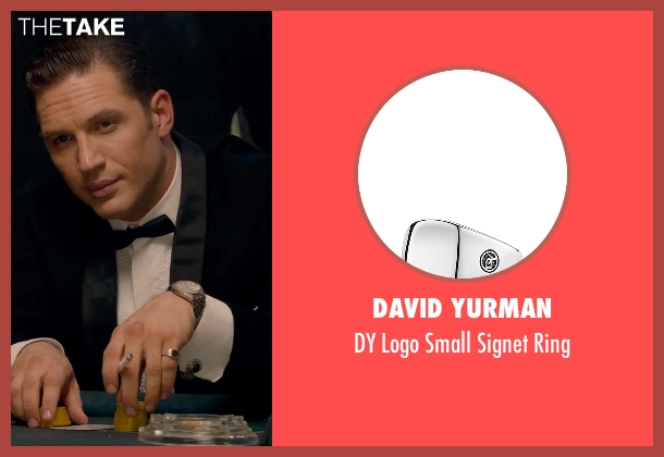 David Yurman silver ring from Legend seen with Tom Hardy (Reginald Kray)