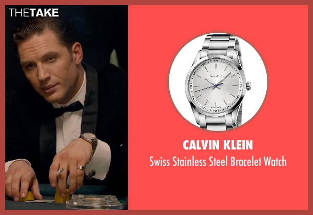 Calvin Klein silver watch from Legend seen with Tom Hardy (Reginald Kray)