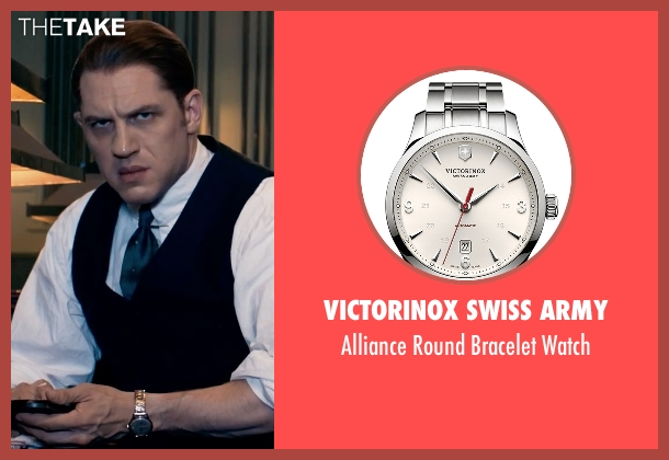 Victorinox Swiss Army silver watch from Legend seen with Tom Hardy (Ronald Kray)