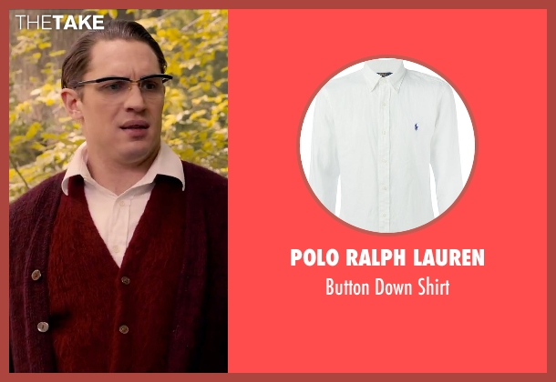 Polo Ralph Lauren white shirt from Legend seen with Tom Hardy (Ronald Kray)