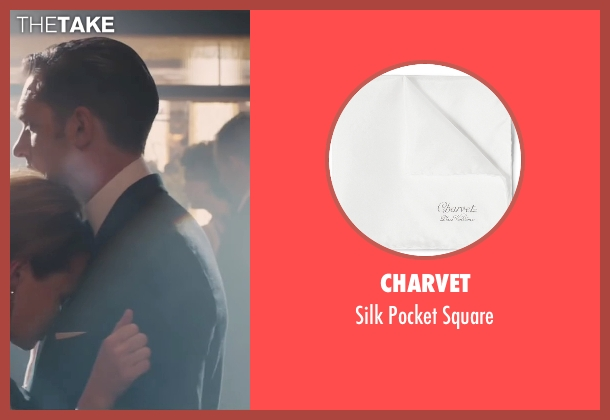 Charvet white square from Legend seen with Tom Hardy (Reginald Kray)