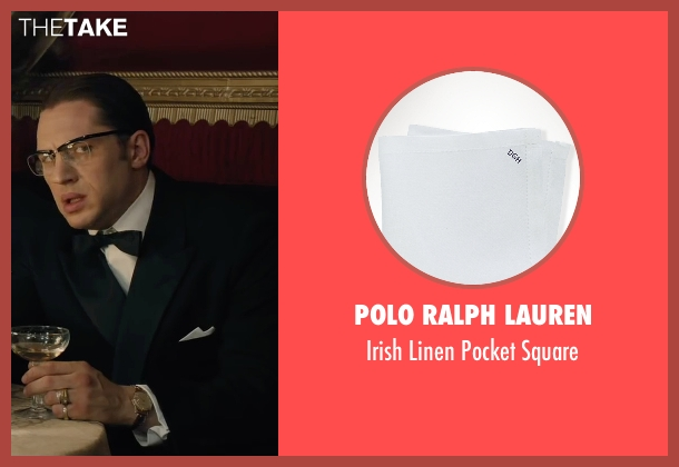 Polo Ralph Lauren white square from Legend seen with Tom Hardy (Ronald Kray)