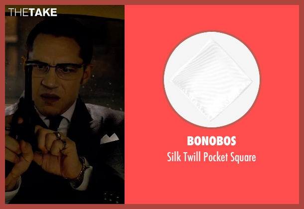 Bonobos white square from Legend seen with Tom Hardy (Ronald Kray)