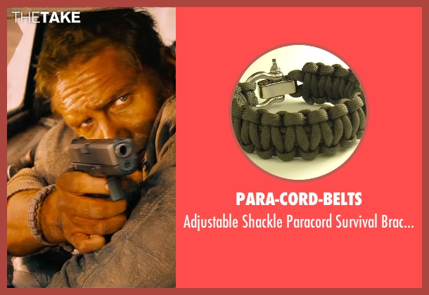 Para-Cord-Belts bracelet from Mad Max: Fury Road seen with Tom Hardy (Max Rockatansky)