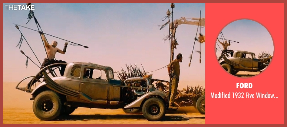 Ford coupe from Mad Max: Fury Road seen with Tom Hardy (Max Rockatansky)