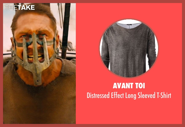 Avant Toi gray t-shirt from Mad Max: Fury Road seen with Tom Hardy (Max Rockatansky)