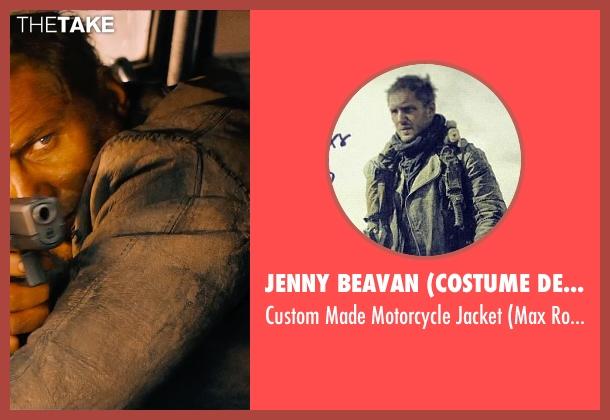 Jenny Beavan (Costume Designer) green jacket from Mad Max: Fury Road seen with Tom Hardy (Max Rockatansky)