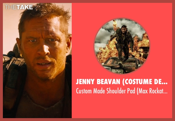 Jenny Beavan (Costume Designer) pad from Mad Max: Fury Road seen with Tom Hardy (Max Rockatansky)