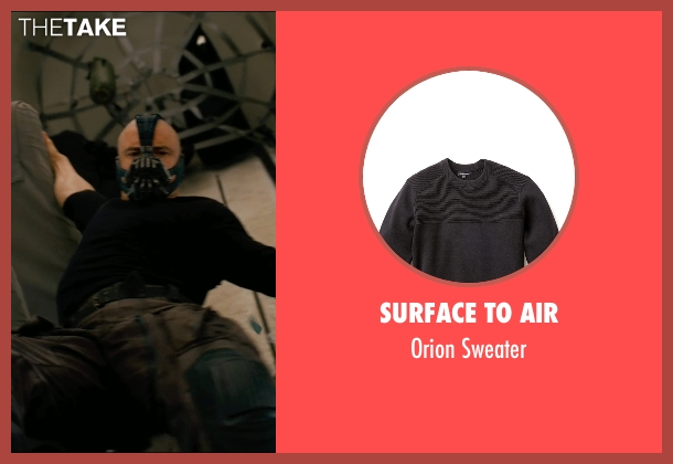 Surface to Air black sweater from The Dark Knight Rises seen with Tom Hardy (Bane)