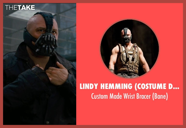 Lindy Hemming (Costume Designer) bracer from The Dark Knight Rises seen with Tom Hardy (Bane)