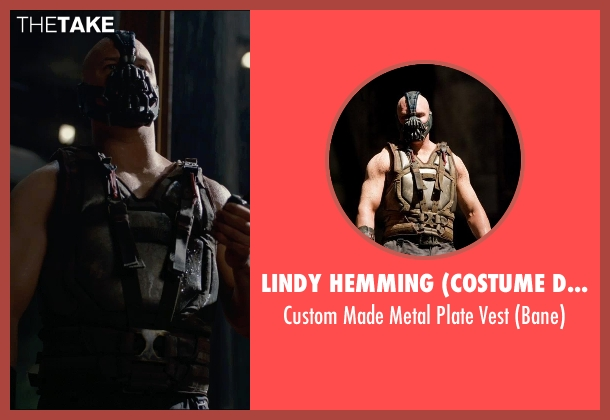 Lindy Hemming (Costume Designer) vest from The Dark Knight Rises seen with Tom Hardy (Bane)