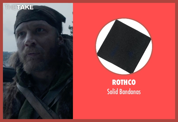 Rothco black bandanas from The Revenant seen with Tom Hardy (John Fitzgerald)