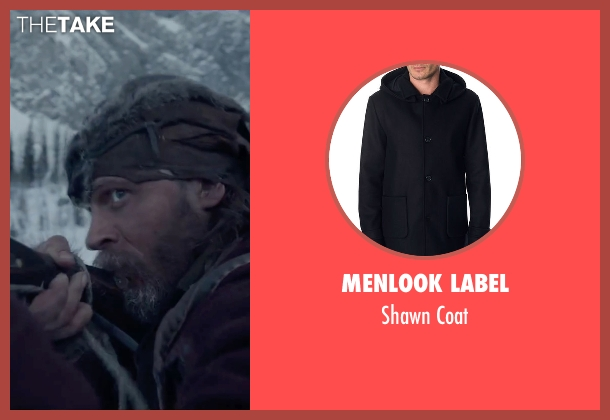 Menlook Label blue coat from The Revenant seen with Tom Hardy (John Fitzgerald)