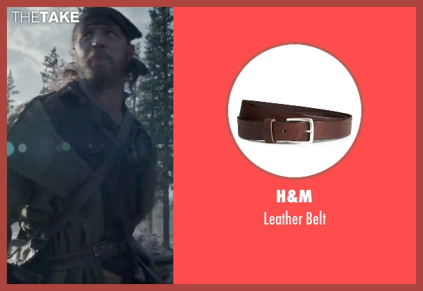 H&M brown belt from The Revenant seen with Tom Hardy (John Fitzgerald)