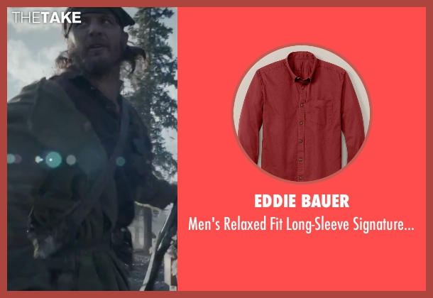 Eddie Bauer red shirt from The Revenant seen with Tom Hardy (John Fitzgerald)