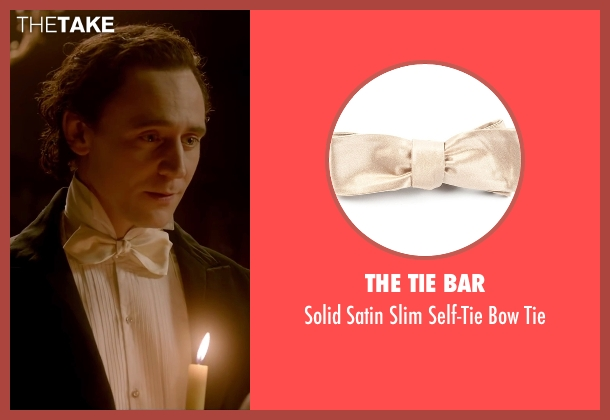 The Tie Bar beige tie from Crimson Peak seen with Tom Hiddleston (Sir Thomas Sharpe)